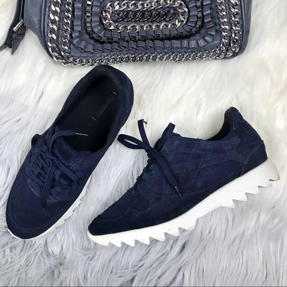 Zara Shoes   Zara Sneakers Navy Blue